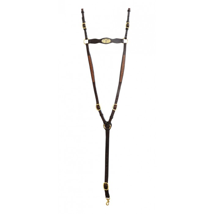 """ASH """"A"""" Show Breastplate with TAN ARROW Plait"""