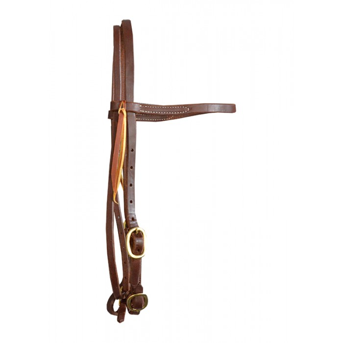Headstall - Hermann Oak (USA)  with buckle ends