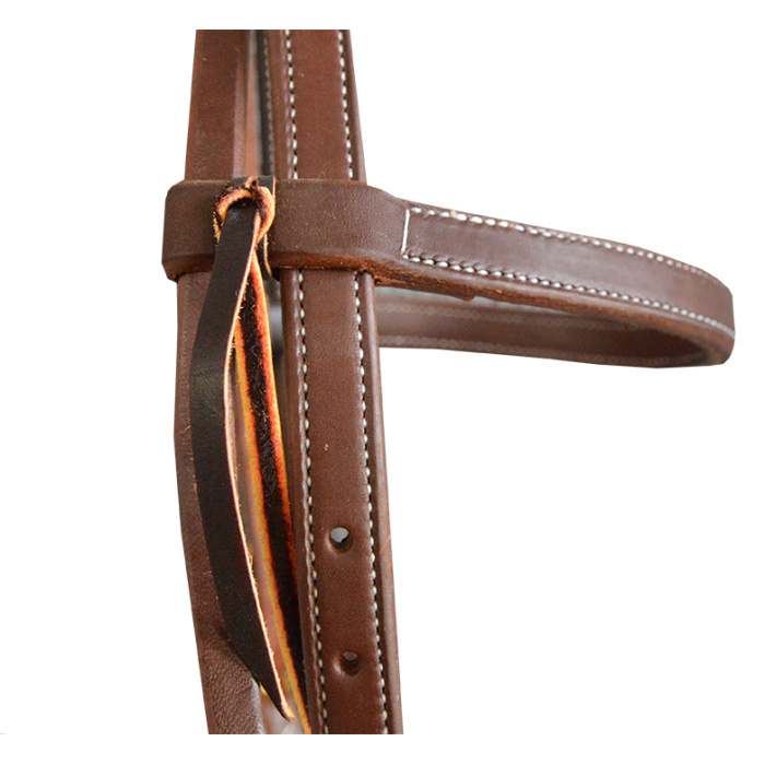 "Headstall - Hermann Oak (USA) 3/4"" Double and Stitched Browband"