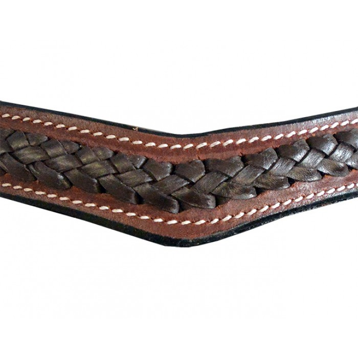 Bridle - Leather Plaited Curve Browband Barcoo Bridle