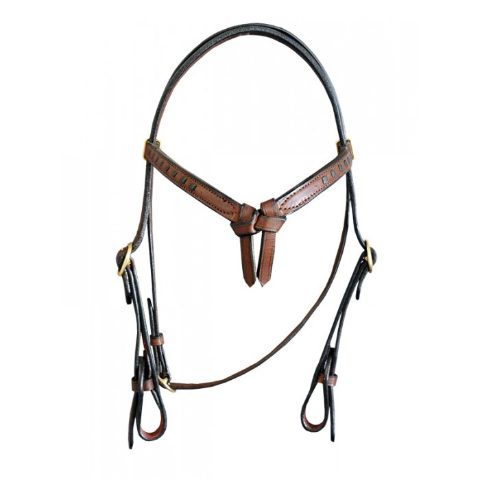 Bridle with V Plait browband with quick release