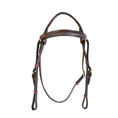 Bridle - Leather with Thin Plait Browband Barcoo Bridle