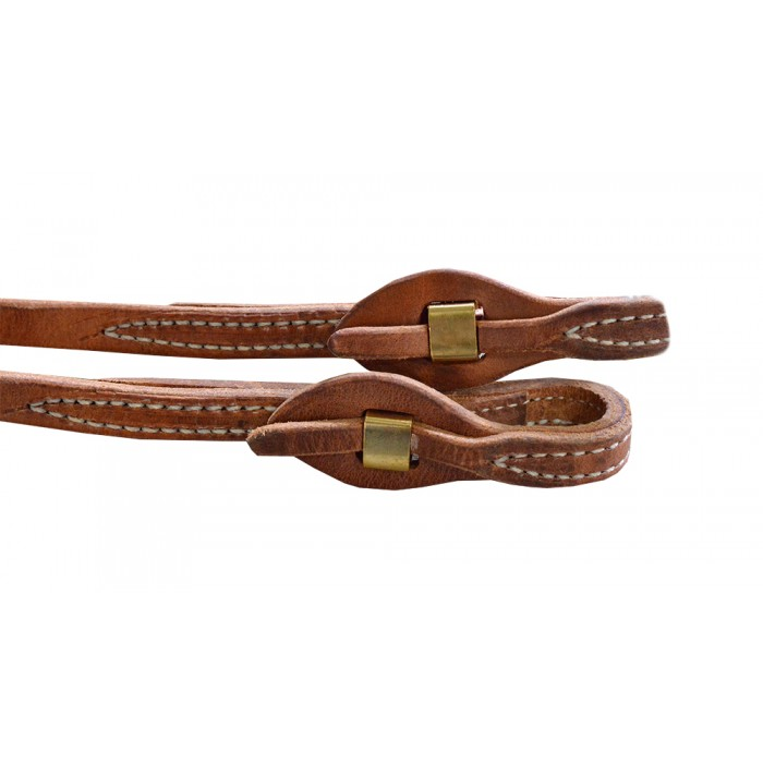 "Rein - Cutting 5/8"" X 8' Hermann Oak Leather Split Reins with Quick Change"