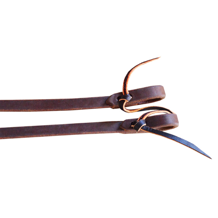 "Rein - Cutting 5/8"" * 8' Oiled Harness Leather Split Reins (DR)"
