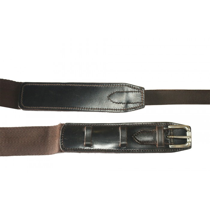 Polo Surcingle Webbing with Leather Ends