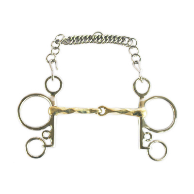 Polo Pelham German Silver Snaffle Square Twist