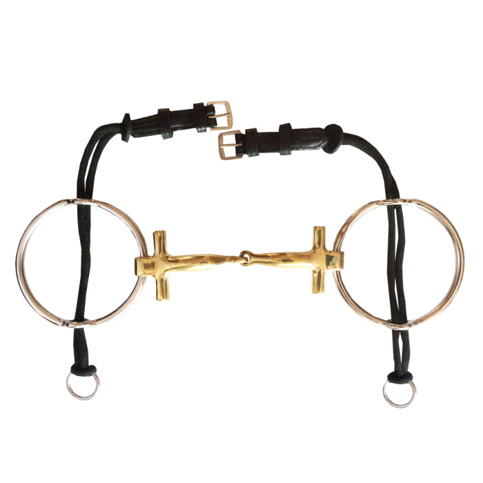 Polo T-Bar Gag German Silver Snaffle