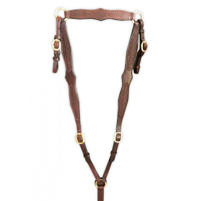 Diamond Stamped leather breastplate