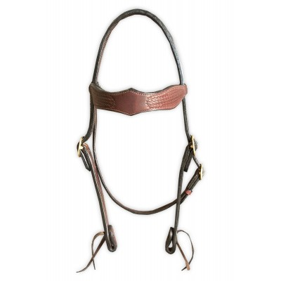 Diamond Browband, stamped leather bridle