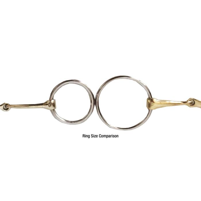 Medium Loose Ring German Silver Snaffle