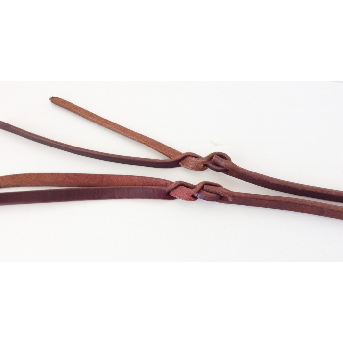 Rein - Cutting Herman Oak Premium Leather Cutting Reins with Pineapple bit ends