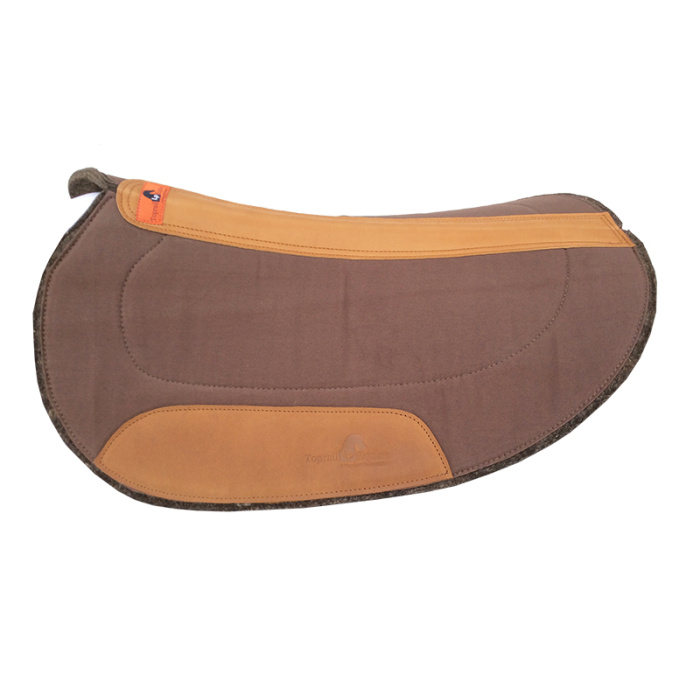 Oval Challenge / Barrel Race Pad - Chocolate Brown