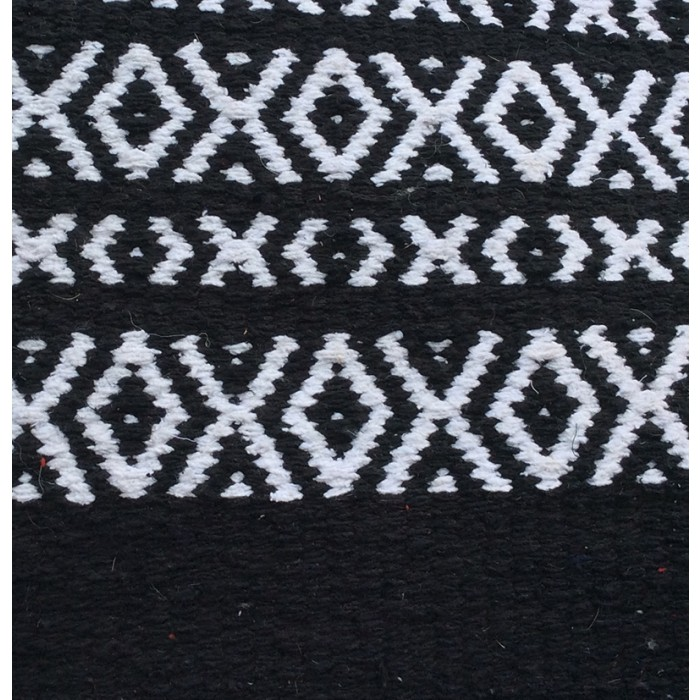 Thick Cotton Polo Blanket - Black