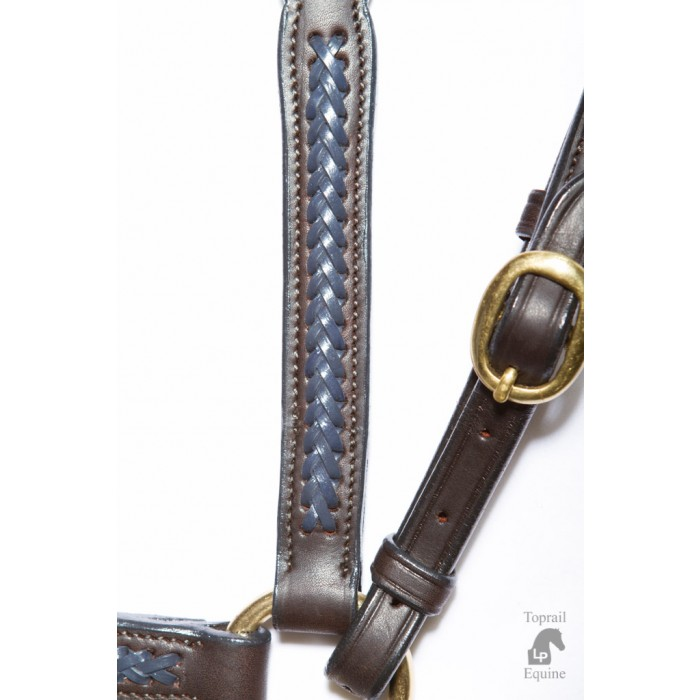 "ASH ""A"" Show Breastplate with BLUE plait"