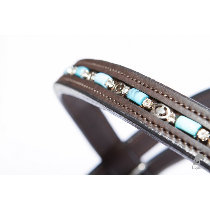 Bridle - Leather with turquoise beading