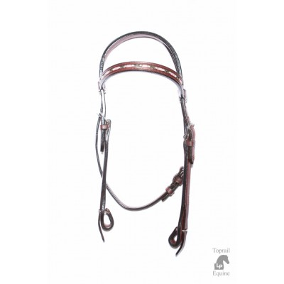 Bridle - Leather with PINK inlay beading