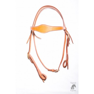 Bridle - Natural Leather with Scalloped browband and quick release